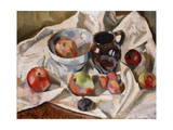 Still Life with Apples, Plums and a Jug Giclee Print by Roger		 Fry