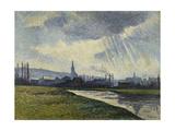 Couillet, Charleroi, Landscape Along the River Posters by Maximilien Luce
