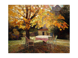 The Terrace, Autumn Kunstdrucke von Victor Charreton