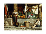 A Vegetable Market Giclee Print by Frans		 Meerts