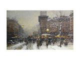 La Porte St. Martin, Paris Giclee Print by Eugene Galien-Laloue