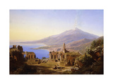 Teatro Greco, Taormina, with Etna beyond Prints by Karl Robert		 Kummer