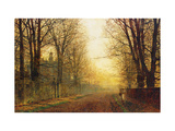 The Autumn's Golden Glory Giclee Print by John Atkinson Grimshaw