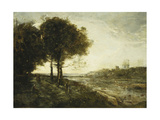 A River in Romagna Posters by Jean-Baptiste-Camille Corot