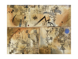Three-Part Composition Giclee Print by Paul Klee