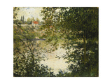 A View Through the Trees of La Grande Jatte Island Giclee Print by Claude Monet