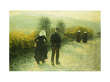 Alla Domenicale Giclee Print by Angelo		 Morbelli