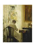A Woman in an Interior Giclee Print by Carl		 Holsoe