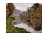 Boat on the Seine near Jeufosse Prints by Claude Monet