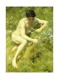 In the Meadow Giclee Print by Henry Scott		 Tuke