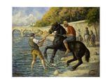 Bathing Horses in the Seine Prints by Maximilien Luce