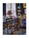 The Studio of Comte Deheaulme de Vallombreuse, 36 Rue Jouffroy, Paris Poster by Akseli Valdemar Gallen-Kallela