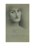 Female Head Giclee Print by Fernand		 Khnopff