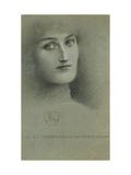 Female Head Print by Fernand Khnopff