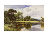 A Wooded River Landscape with Cattle Posters by Henry H.		 Parker