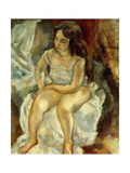The Model Giclee Print by Jules		 Pascin