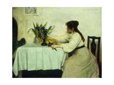 Arranging the Flowers Prints by Edwin Harris