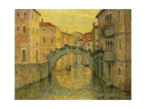 The Morning Sun, Venice Premium Giclee Print by Henri		 Le Sidaner