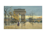 Arc de Triumphe Giclee Print by Eugene Galien-Laloue