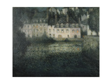 House on the River in the Moonlight Premium Giclee Print by Henri		 Le Sidaner