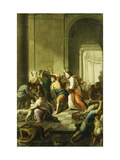 Christ Driving the Money-Changers from the Temple Giclee Print by School of Eustache Le Sueur