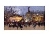 La Fete, Place de la Republique, Paris Premium Giclee Print by Eugene		 Galien-Laloue