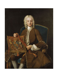 Portrait of John, Lord Henry (1696-1743) with the Purse of Lord Privy Seal Premium Giclee Print by Jean-Baptiste Loo