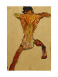 Male Nude seen from Back Prints by Egon Schiele