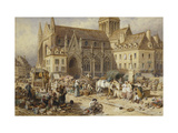 At Gervaise, Falaise: Market Day Prints by Myles Birket		 Foster