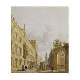 Exeter College, Oxford Giclee Print by George		 Pyne