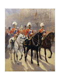 George V in Procession Giclee Print by Scott George
