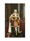 Portrait of King George II when Prince of Wales, Wearing State Robes Giclee Print by (circle of) Sir Godfrey Kneller