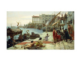 The Embarkment of a Roman Queen Giclee Print by Ettore		 Forti
