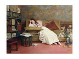 Leisure Hours Print by Georges Croegaert
