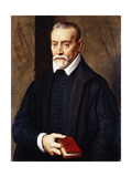 Portrait of an Academic in black costume, holding a book Giclee Print by Willem		 Key