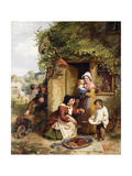 The Cherry Seller Art by George		 Smith