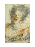 A Young Man Shouting Giclee Print by Camillo		 Procaccini