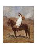 An Arab on a Horse in a Desert Landscape Print by Henri Emilien Rousseau