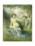Nymph driving Love away with a Torch Prints by Victor Florence		 Pollet