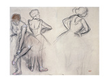 Study of Dancers Giclee Print by Edgar Degas