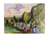 A Promenade of Ladies Giclee Print by Pompeo		 Mariani