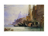 Santa Maria della Salute and the Grand Canal, Venice Giclee Print by William		 Callow