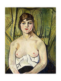 Woman with Bare Breasts (Self Portrait) Giclee Print by Suzanne		 Valadon