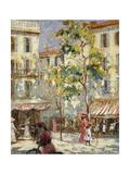 Escena callejera en París Lámina giclée por Joseph Alfred Terry