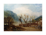 Mont Blanc, from the Bridge of St. Martin, Sallanches Giclee Print by J. M. W. Turner