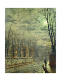 Going Home by Moonlight Premium Giclee Print by John Atkinson Grimshaw