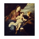 The Holy Family Art by (school of) Sir Anthony Dyck