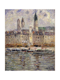 View of Rouen Prints by Gustave		 Loiseau