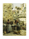 The Washerwomen Giclee Print by Peder Mork Monsted
