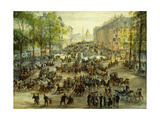 A Busy Boulevard Giclee Print by Victor Geruzez